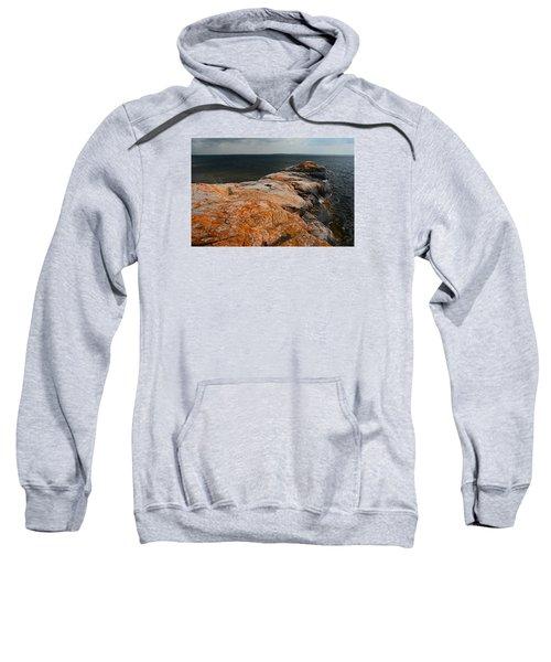 Georgian Bay Rocks Lichen-3675 Sweatshirt