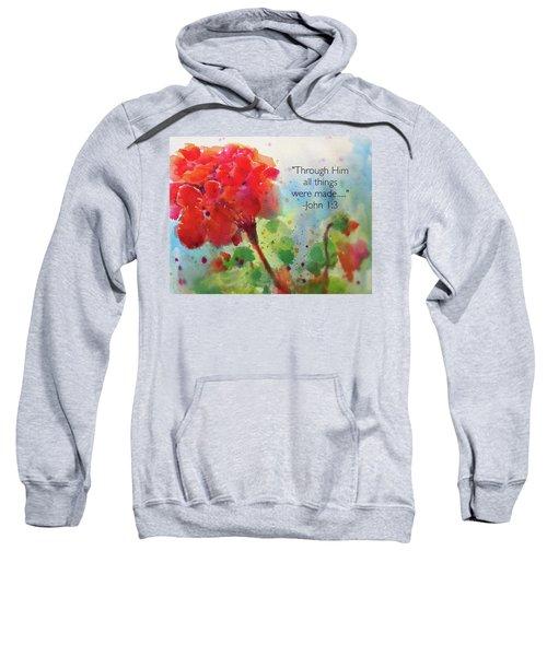 Geranium Praises Sweatshirt