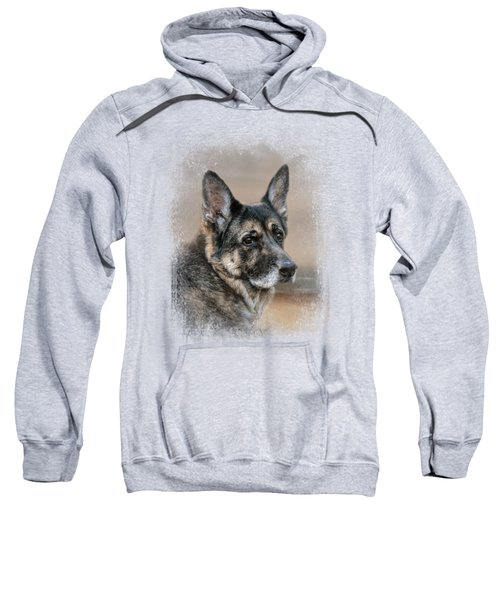 German Shepherd Dreaming Of The Beach Sweatshirt