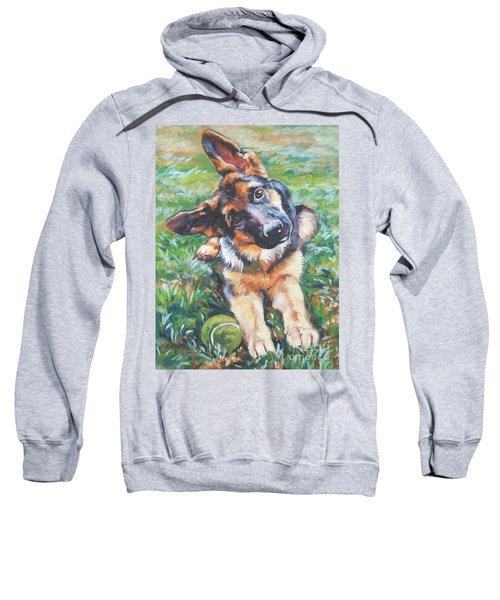 German Shepherd Pup With Ball Sweatshirt