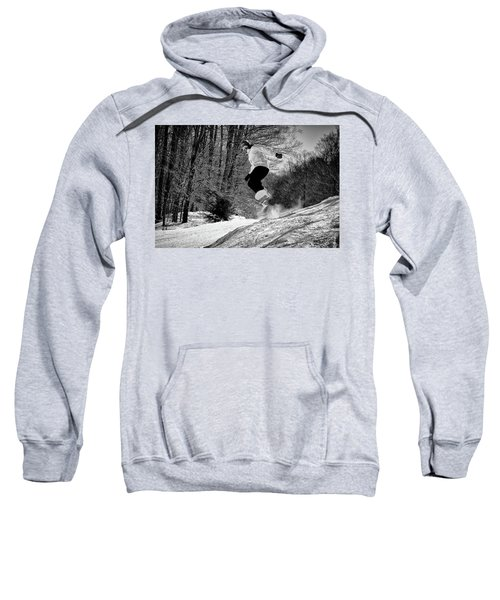 Sweatshirt featuring the photograph Getting Air On The Snowboard by David Patterson