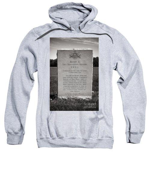 Gettysburg National Park First Pennsylvania Artillery Monument Sweatshirt