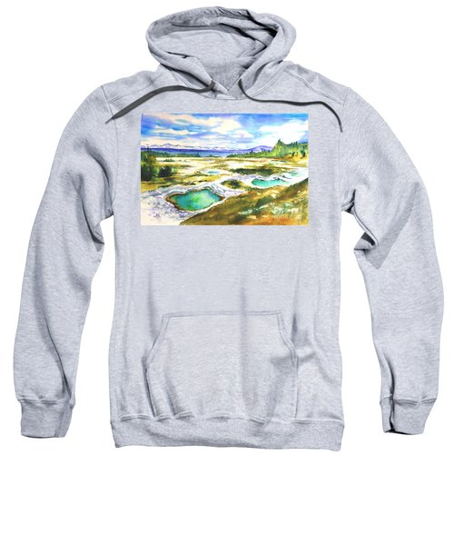 Geyser Basin, Yellowstone Sweatshirt