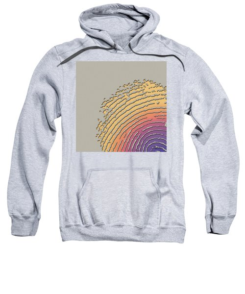 Giant Iridescent Fingerprint On Beige Sweatshirt