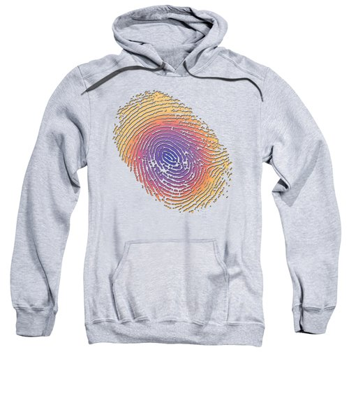 Giant Iridescent Fingerprint On Clay Beige Set Of 4 - 1 Of 4 Sweatshirt