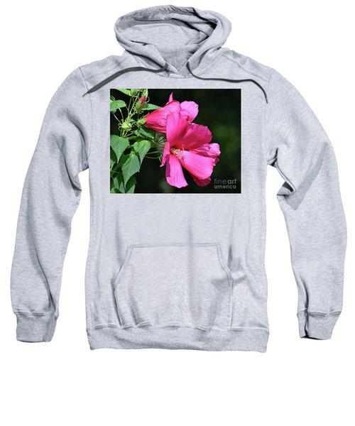 Giant Pink Hibiscus Sweatshirt