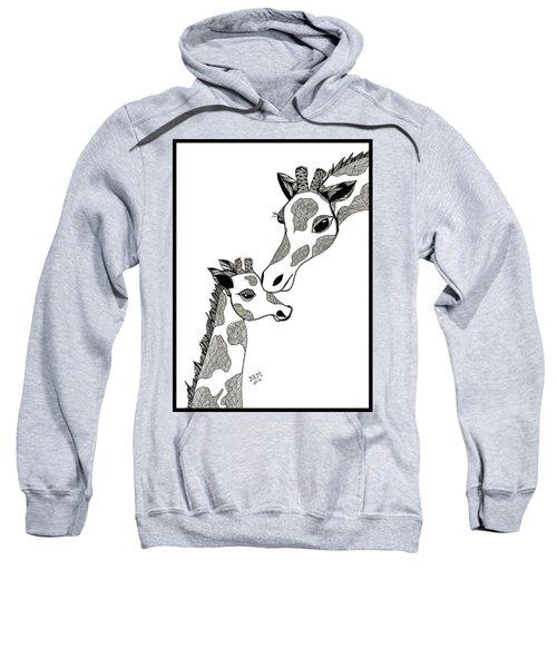 Giraffe Mom And Baby Sweatshirt