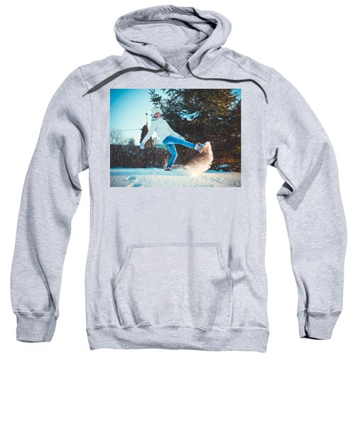 Girl And Snow Sweatshirt