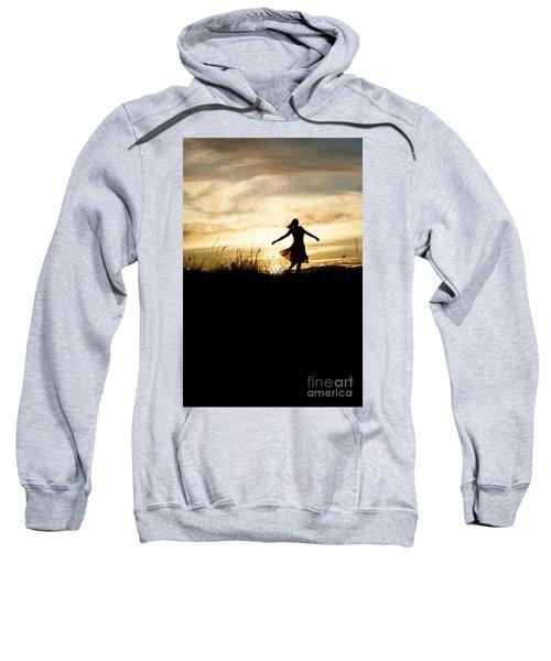 Girl Dancing In Sunset Sweatshirt