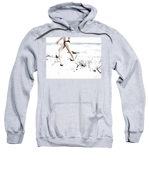 Girl Walking On Beach Sweatshirt