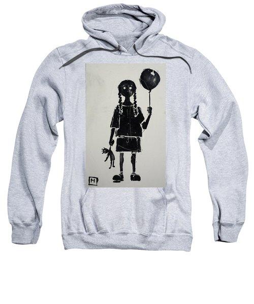 Girl With Balloon And Doll Sweatshirt