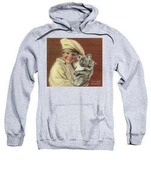 Girl With Koala And Its Baby Sweatshirt