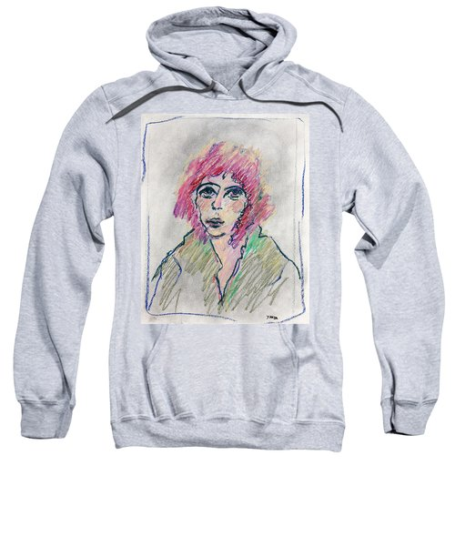 Girl With Pink Hair  Sweatshirt