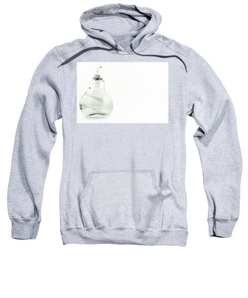 Glass Pear In Black And White Sweatshirt