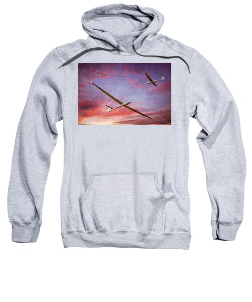 Gliders Over The Devil's Dyke At Sunset Sweatshirt
