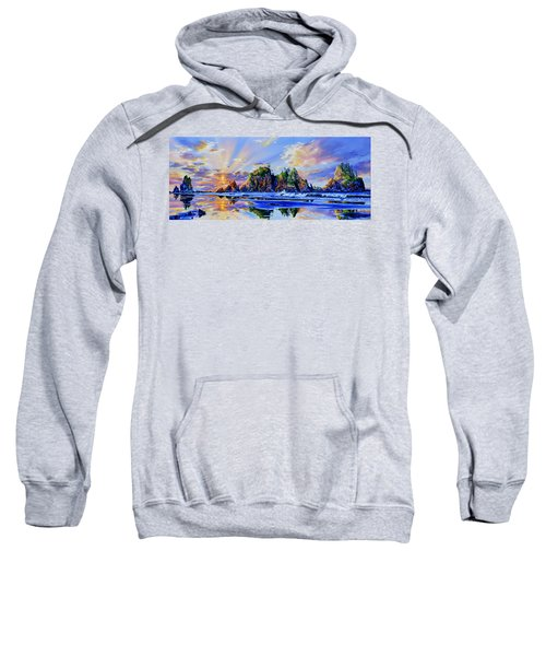 Sweatshirt featuring the painting Glorious Point Of The Arches by Hanne Lore Koehler
