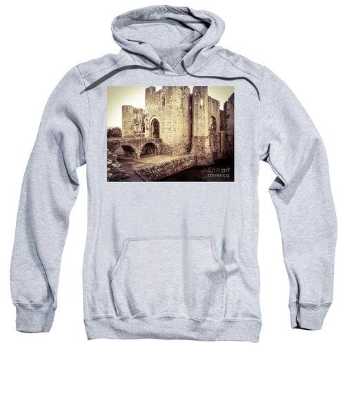 Sweatshirt featuring the photograph Glorious Raglan Castle by Denise Railey