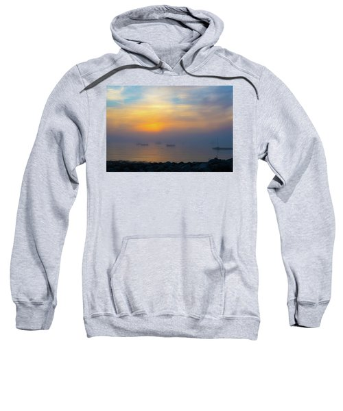 Gloucester Harbor Foggy Sunset Sweatshirt
