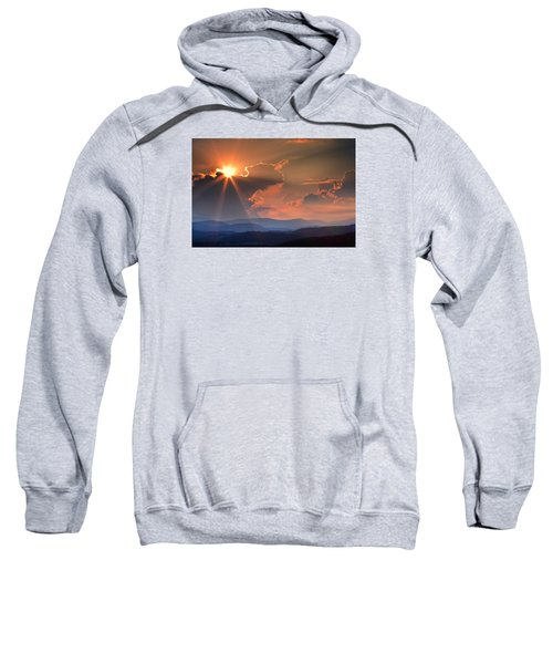 God Rays Over N C  Mountains Sweatshirt