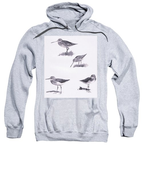 Godwits And Green Sandpipers Sweatshirt by Archibald Thorburn