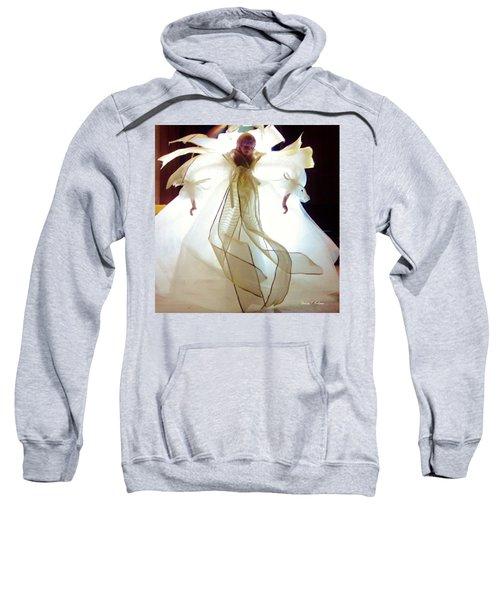 Gold And White Angel Sweatshirt