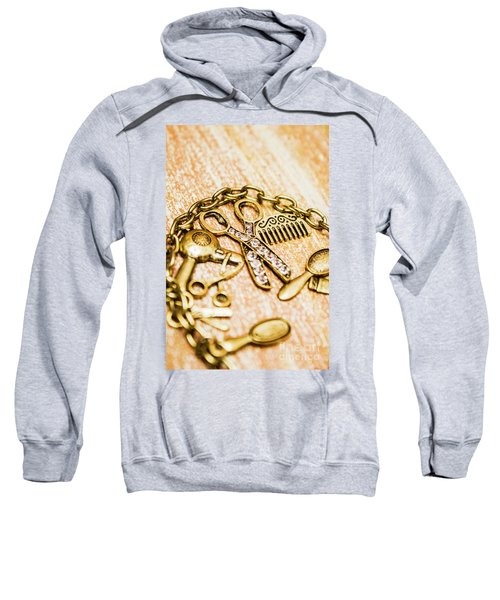 Gold Class Hair Styling Background Sweatshirt