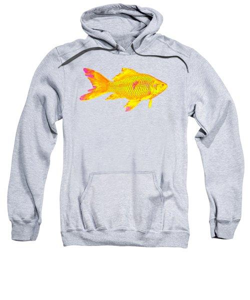 Gold Fish On Striped Background Sweatshirt