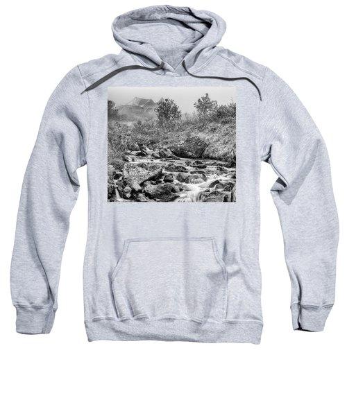 Gold Rush Mining Shack In The Alaskan Mountains Sweatshirt