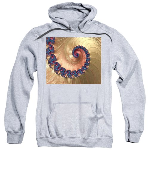 Gold Spiral With Passion Abstract Sweatshirt