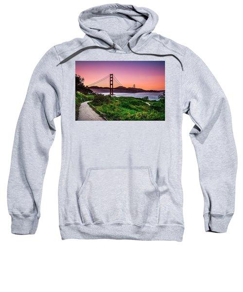 Golden Gate Bridge San Francisco California At Sunset Sweatshirt