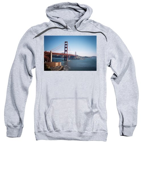 Golden Gate Bridge With Aircraft Carrier Sweatshirt