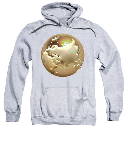 Golden Globe - Eastern Hemisphere On Gold Sweatshirt