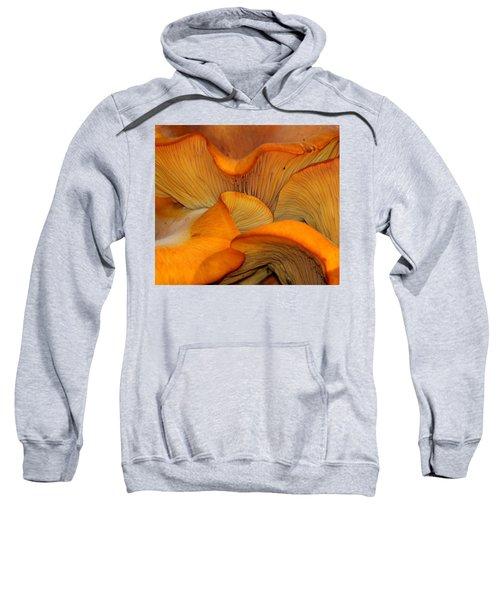 Golden Mushroom Abstract Sweatshirt