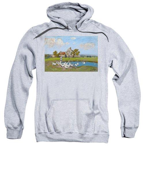 Goose Girl At Sablons Sweatshirt