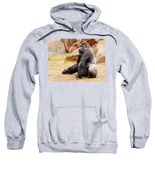 Gorilla Sitting Upright Sweatshirt