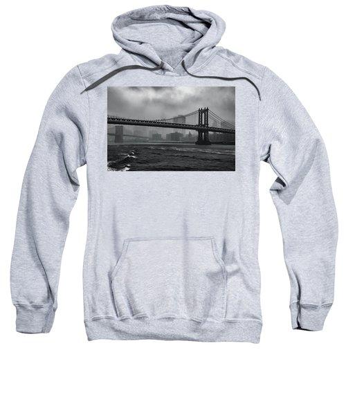 Manhattan Bridge In A Storm Sweatshirt