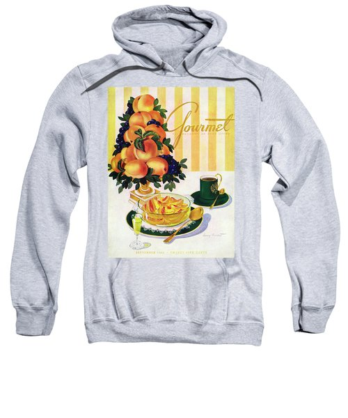 Gourmet Cover Featuring A Centerpiece Of Peaches Sweatshirt