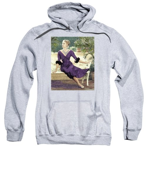 Grace Kelly Draw Sweatshirt by Quim Abella