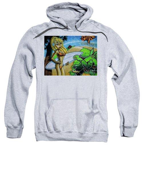 Graffiti-surfgirl Sweatshirt