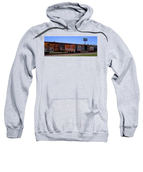 Graffiti Train With Billboard Sweatshirt