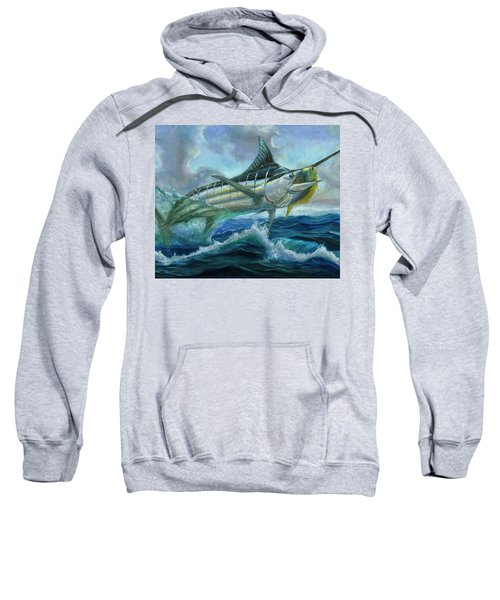 Grand Blue Marlin Jumping Eating Mahi Mahi Sweatshirt