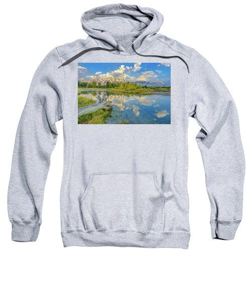 Grand Teton Riverside Morning Reflection Sweatshirt