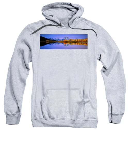 Grand Tetons And Reflection In Grand Sweatshirt