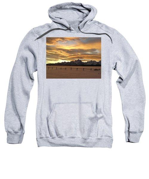 Grand Tetons In January Glory Sweatshirt