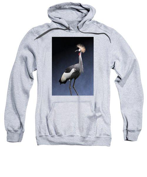 Gray Crowned Crane Sweatshirt