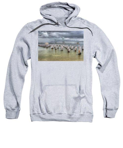 Gray Day Over Marine Parkway Bridge Sweatshirt