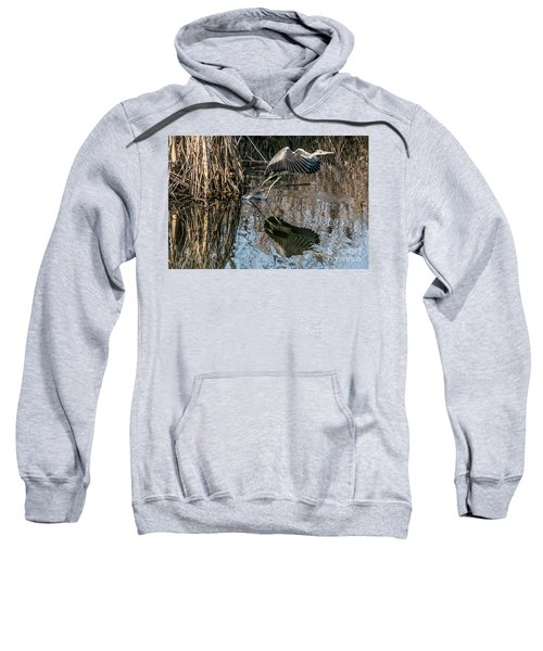Gray Heron Flew Up Sweatshirt