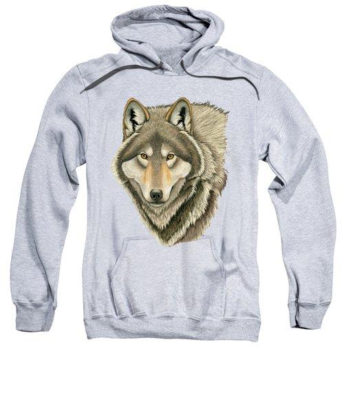Gray Wolf Portrait Sweatshirt