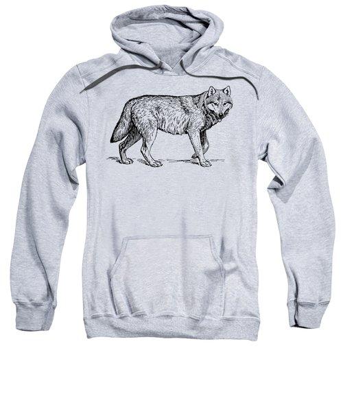 Gray Wolf Timber Wolf Western Wolf Woods Texture Sweatshirt
