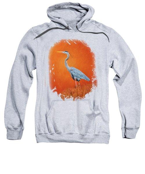 Great Blue Abstract 2 Sweatshirt by John M Bailey